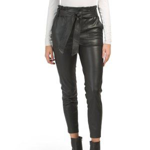 Blank NYC - tie front vegan leather pants